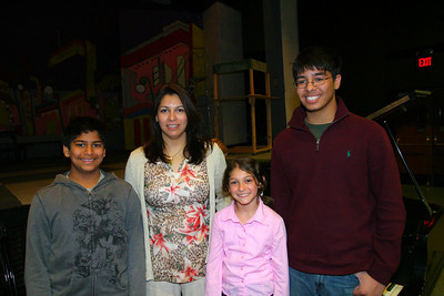 Anisa with Saadia and her cousins.