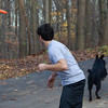 Shadow's favourite game.  Running after the frisbee into the forest.