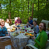 Mother Day brunch out on the deck.