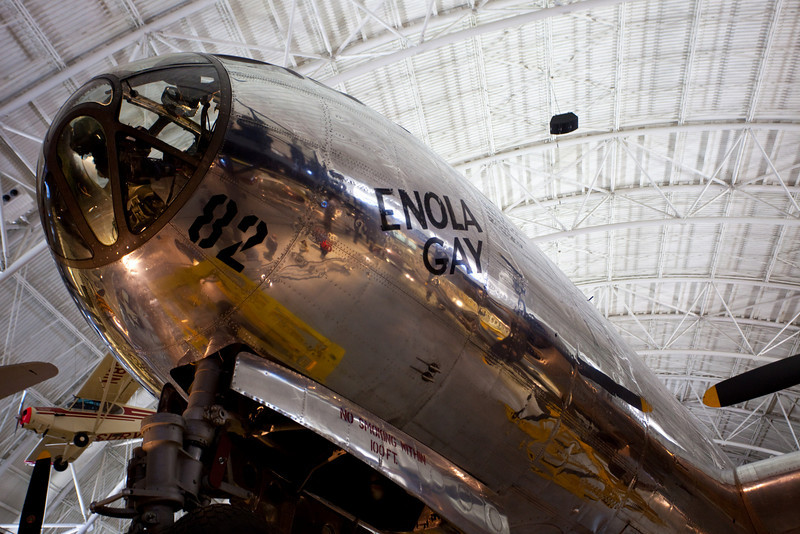 The Udvar Hazy museum.  This is the Enola Gay that dropped the nuclear bomb in Hiroshima.  Bockscar was the airplane that dropped the bomb on Nagasaki.