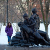 Then we had to sop to see this scultpure put up for the women in the Korean war. It is very well done.