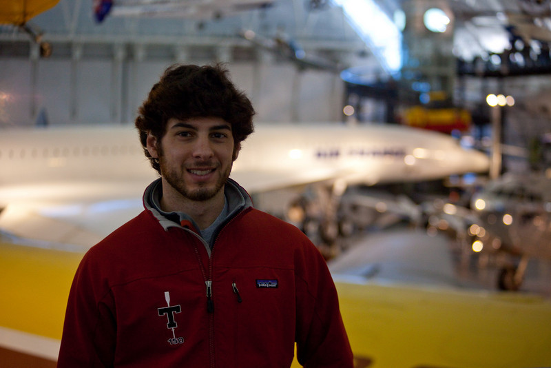 Jeff in front of the Concorde.