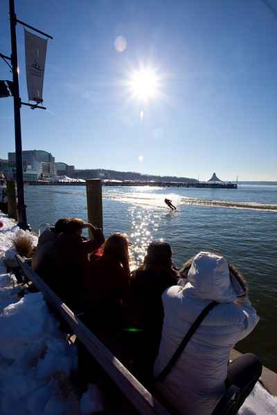 It was a cold day out there.  I can only image what it was like for the water skiers.
