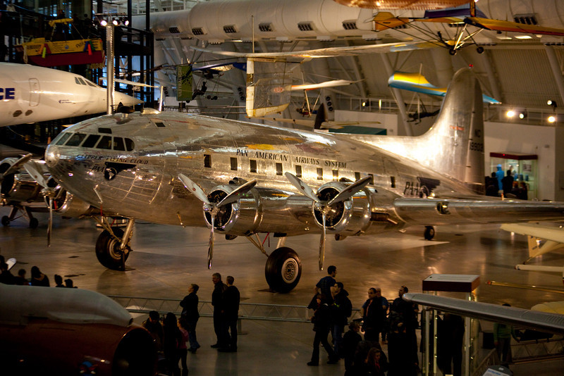 The Boeing 307 Stratoliner.  One of the first pressurized passenger planes.  The square windows were much too cool.  It is amazing it survived so long.