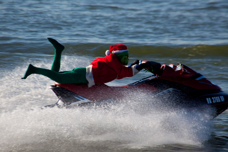 My personal favourite....the Grinch.  Now who wouldn't want to see him zipping around on his jet ski.