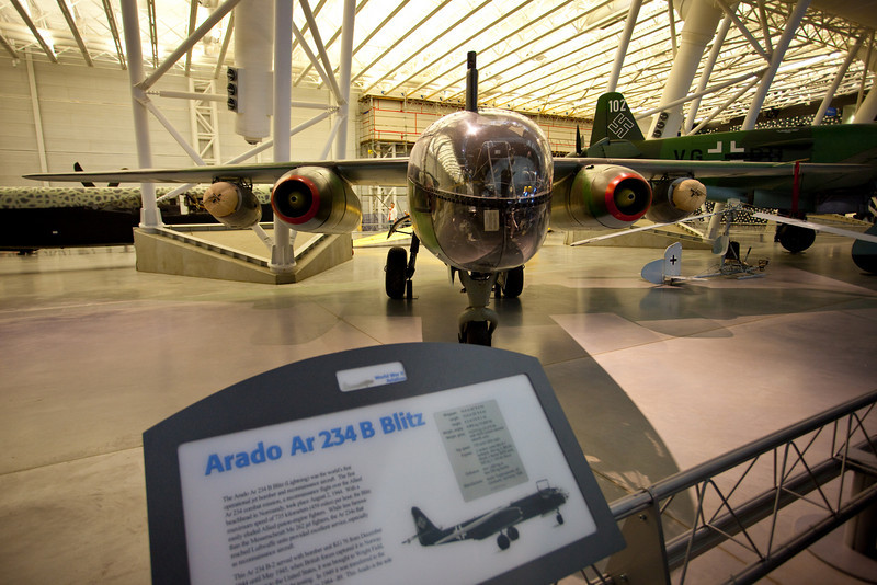 The first jet bomber/reconnaisance plane...made by the germans of course in world war II.