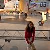 Anisa not feeling so good in front of the F-4 Phantom.
