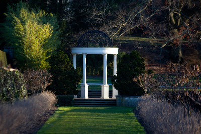 One of the gazebos at the garden.