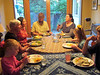 Sept. 2012-Denali's 13th-Family dinner-Ella, Holly, Grace, Nathan, Heather, Charlotte, Denali