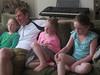 Three cousins with dad wish Elias happy 12