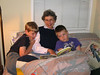 Bedtime reading, grandma and boys