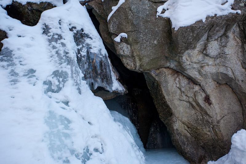 Frozen waterfall.