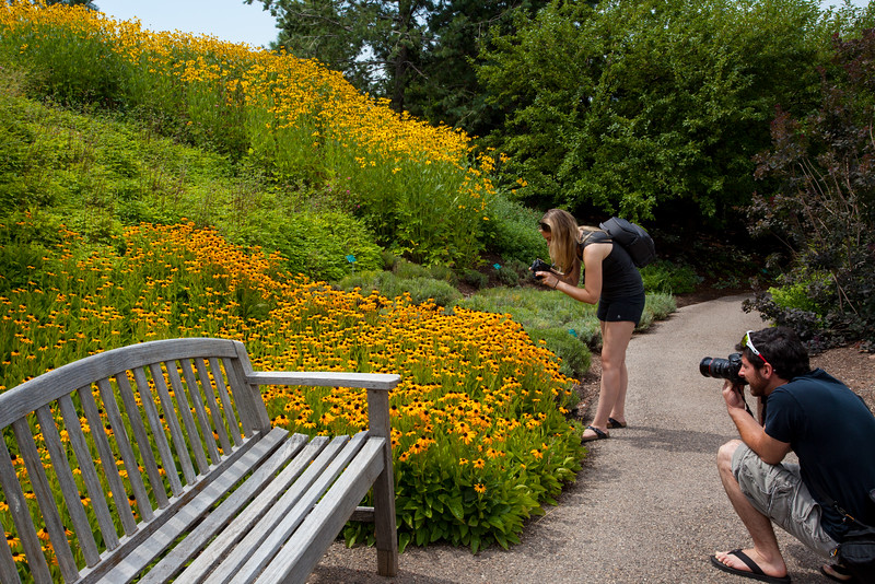 Photographers at work at Red Butte Gardens.  PC Anisa Iqbal