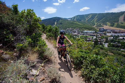 Anisa's first time on a mountain bike.  There were lots of screams.