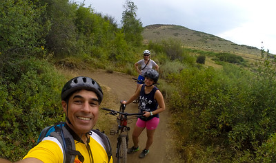 Almost done with the Mountain Bike Trail.  My team is not as happy as I was!