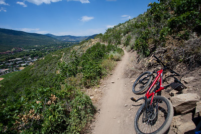 Up above Park City on the Eyrie Trail.