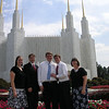 Everybody that went to the Temple with Steven on his first trip there (July 31, 2010).  Cindy and Chris Jewkes, Steven, Daniel, Mama, and Papa (taking the picture).
