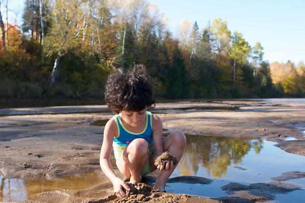 Cyane on the sandbank