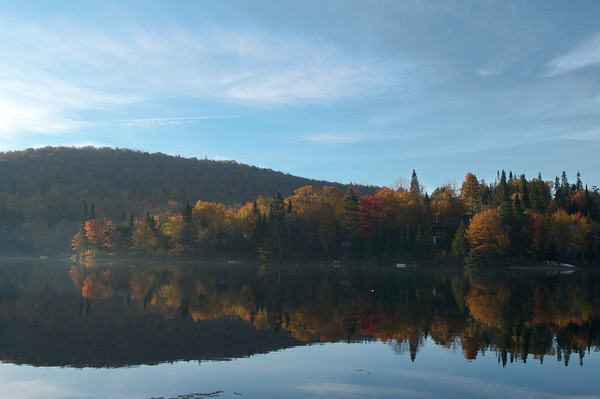 Lac Vert from our dock