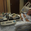 Congratulations Dinner on our last night in the hospital.