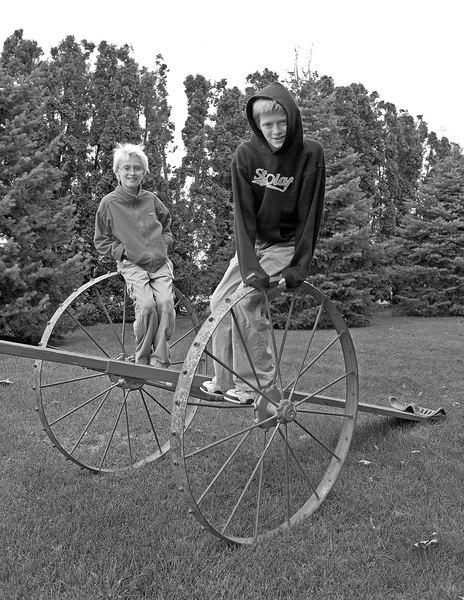 Lars and Torsten enjoying the famous teeter-totter.