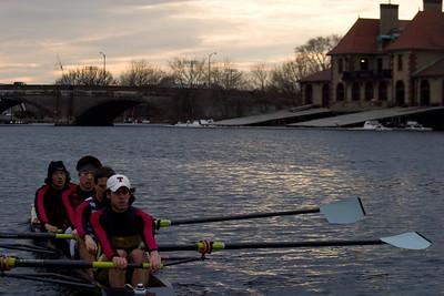 Passing Harvard Boathouse.