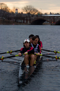 Mostly steady state rowing.  This was a Resolute four.