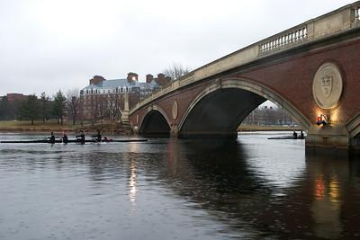 Rowing by Weeks Bridge.