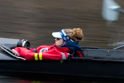 The MIT coxswain.  A rather difficult picture to take from a launch.