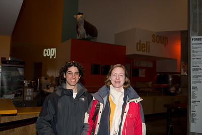 At the Stata Center in MIT.  The cow in the background was put on top of the dome as a hack.