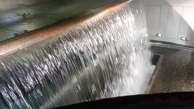 waterfall in warehouse