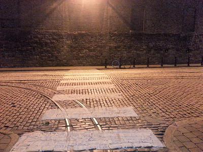 Cobblestone entryway