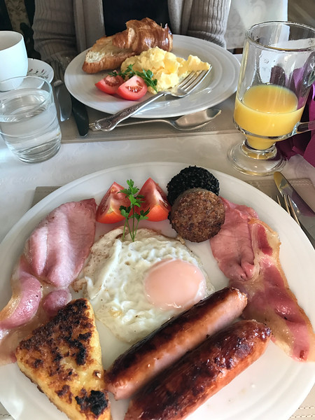 Another full breakfast in Galway at the Adare B&B