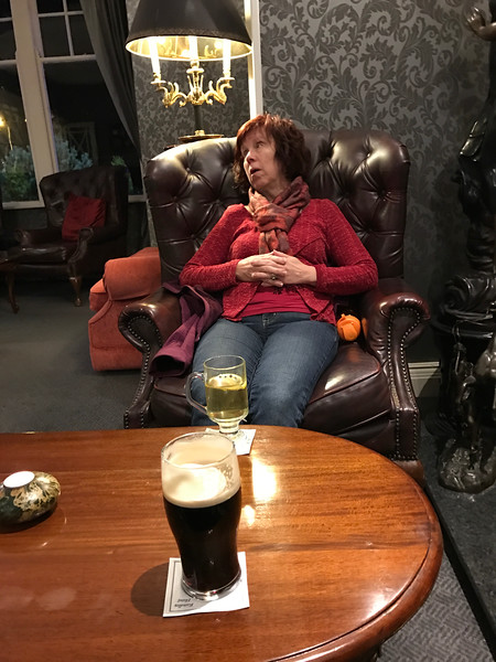 Resting at the Randles Hotel in Killarney after quite a day of driving.