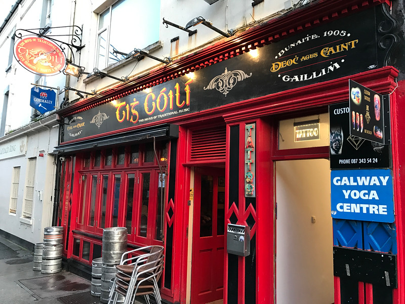 The real deal Irish pub in Galway next to a Yoga centre.  Makes sense.