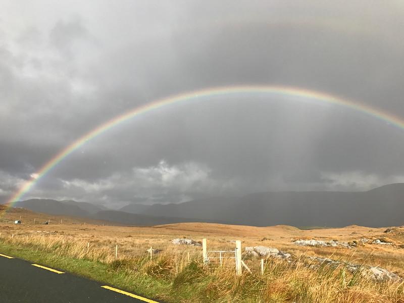 Incredible double rainbow in the Connemara region.