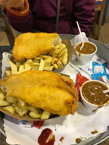 Stopped at a local fish n' chips joint after the Jameson's tour.  Hit the spot!