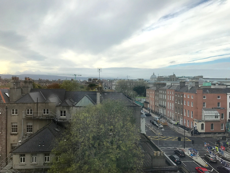 View from our room at the top (6th floor) of the O'callaghan Davenport near Trinity College.