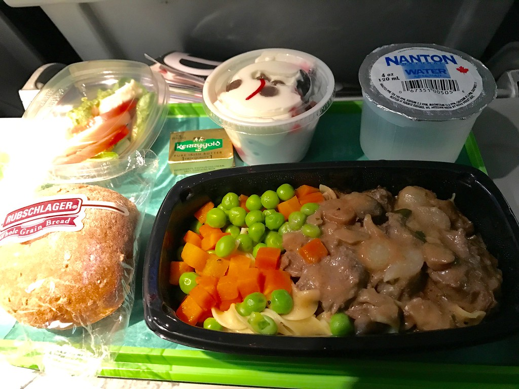 Aer Lingus dinner on the way over.