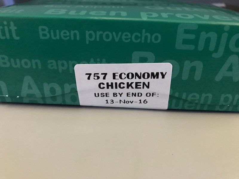 """Our last snack on Aer Lingus had a """"warning label."""""""