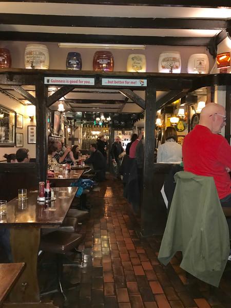 Dinner at a pub in Killarney!