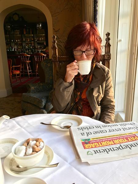 Tea and news.