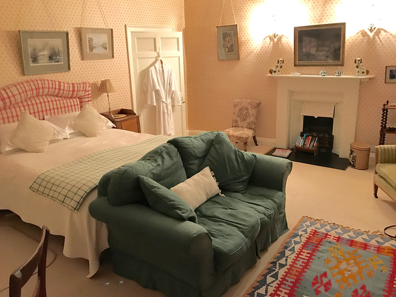 Our comfy room at Ballyduff House.