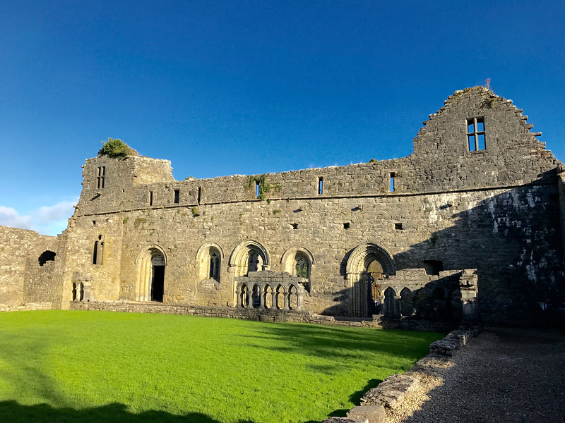 Cong Abbey ruins where I ruined my right knee!