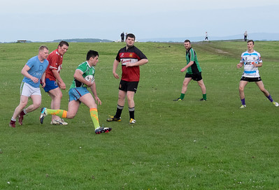 Gaelic football practice.