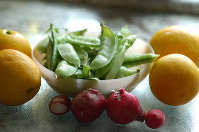 Fresh picked-lemons_snowpeas-radishes-3