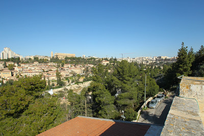Jerusalem from the roof of the JUC