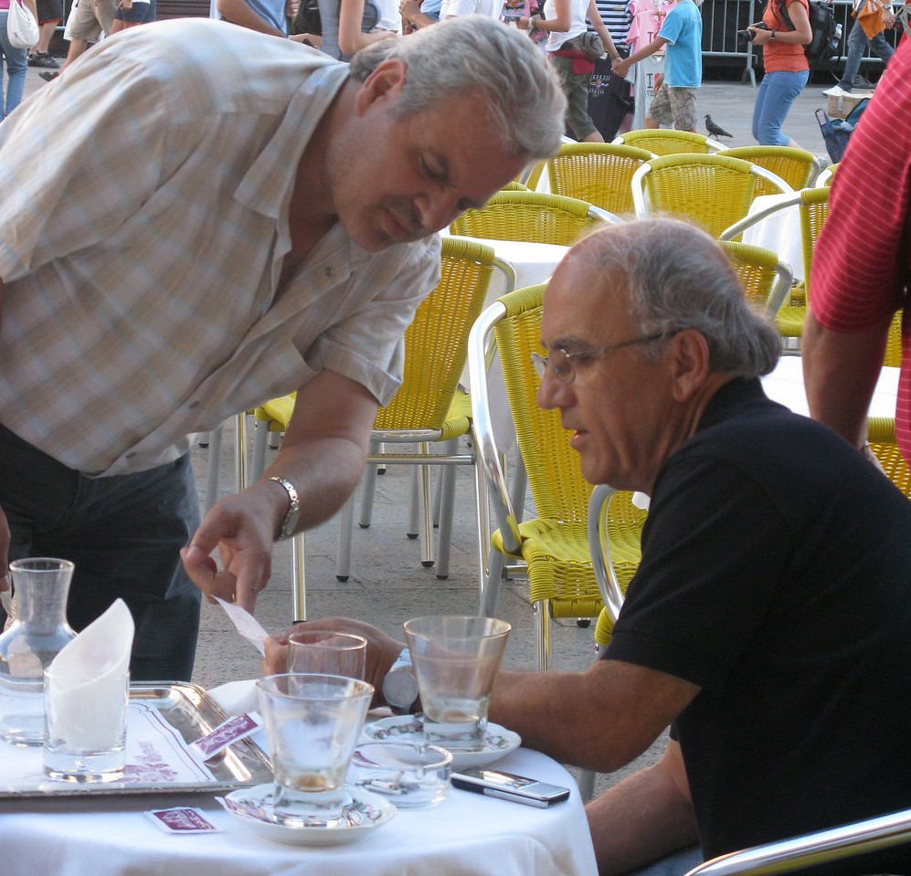 Guests at Cafe Lavena