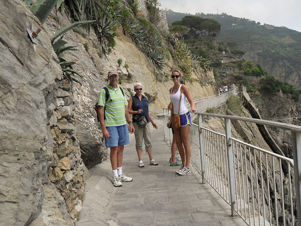 On the Via Dell'Amore, the pathway between two of Cinque Terre's villages