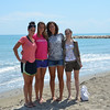 The girls with Jessie's teammate, Gloria and her little sister, in Eraclea Mare, near Venice